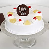 Ferns 'N' Petals Love You Valentine Pineapple Cake Half Kg Eggless| Birthday Cake| Anniversary Cake|Next Day Delivery