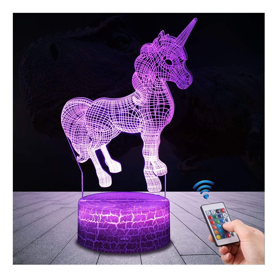 Lampada Unicorno 3d Con Controllo Remoto Uslinsky Lampade Notturna