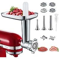 Hachoir Accessoire pour KitchenAid Robot Pâtissier, Hachoir Electrique à Viandes pour Viande et Saucisse, Hachoir à…