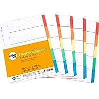 perfect line 5 pièces, 5 intercalaires DIN-A4 couleur avec page de garde (5x5), 22,3 x 29,7 cm, séparateurs registre, 5…