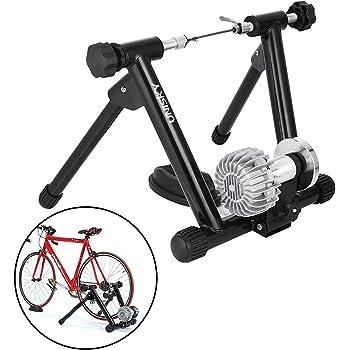 Tecmaqui Rodillos para Bicicleta 330LBS Entrenador para Bicicleta en Interior 750W Resistencia Fluida Soporte Portátil para