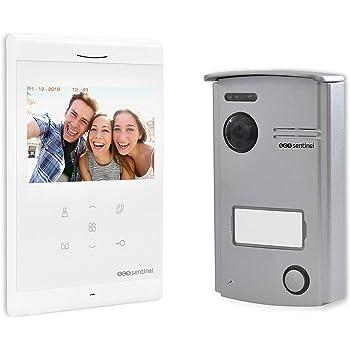 SCS Sentinel Interphone Vidéo Filaire VisioDoor 4.3, Blanc