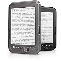 Lazmin112 Lettore di e-Book da 6 Pollici, Schermo e-Ink con risoluzione 800 * 600 Senza abbagliamento con Cavo USB…