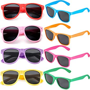 3er Set Retro Vintage Sonnenbrille Farbverlauf Brillen Summer Party Brillen