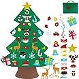 Vlovelife Vilt kerstboom voor peuters, kinderen DIY kerstboom met 30 stks opknoping ornamenten & opbergtas, kerstboom voor va