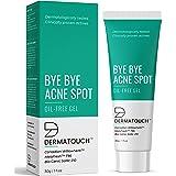 DERMATOUCH Bye Bye Acne Spot Oil Free Gel || Tea Tree Oil Extract || Anti-Acne Cream || Moisturizer for Acne Prone Skin || Pi