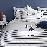 MATT & ROSE Parure de lit imprimée 100% Coton Bretagne Breizh 240x220 cm