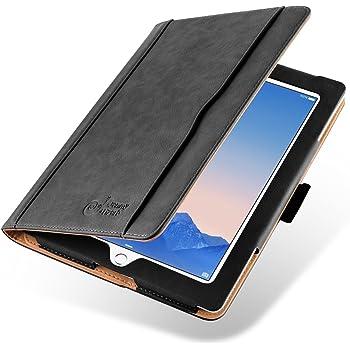 Flip Cover iPad 2 iPad 3 iPad 4, JAMMYLIZARD Custodia Smart Case in Pelle per iPad 2, 3 e 4 (retina), SABBIA e NERO