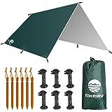 Etechydra Camping Tent Tarp Waterdichte Onderdak, Draagbare Lichtgewicht Regen Vliegvel Tent Tarp Voor Backpacken Wandelen Ca