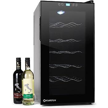 Klarstein Vivo Vino Cave à vin 18 bouteilles avec lumière LED (52L, 18 bouteilles, 11° à 18°C, classe énergétique B)