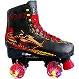دراجة التزلج الرباعية من ليكو للفتيات والنساء مع إضاءة جميع العجلات، مع رباط داخلي مرح للتزحلق على الجليد في الهواء الطلق