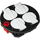 Brennenstuhl uttagsinstallation monteringsplatta 4 fack IP20 230 V/16 A med termostat, 1081080