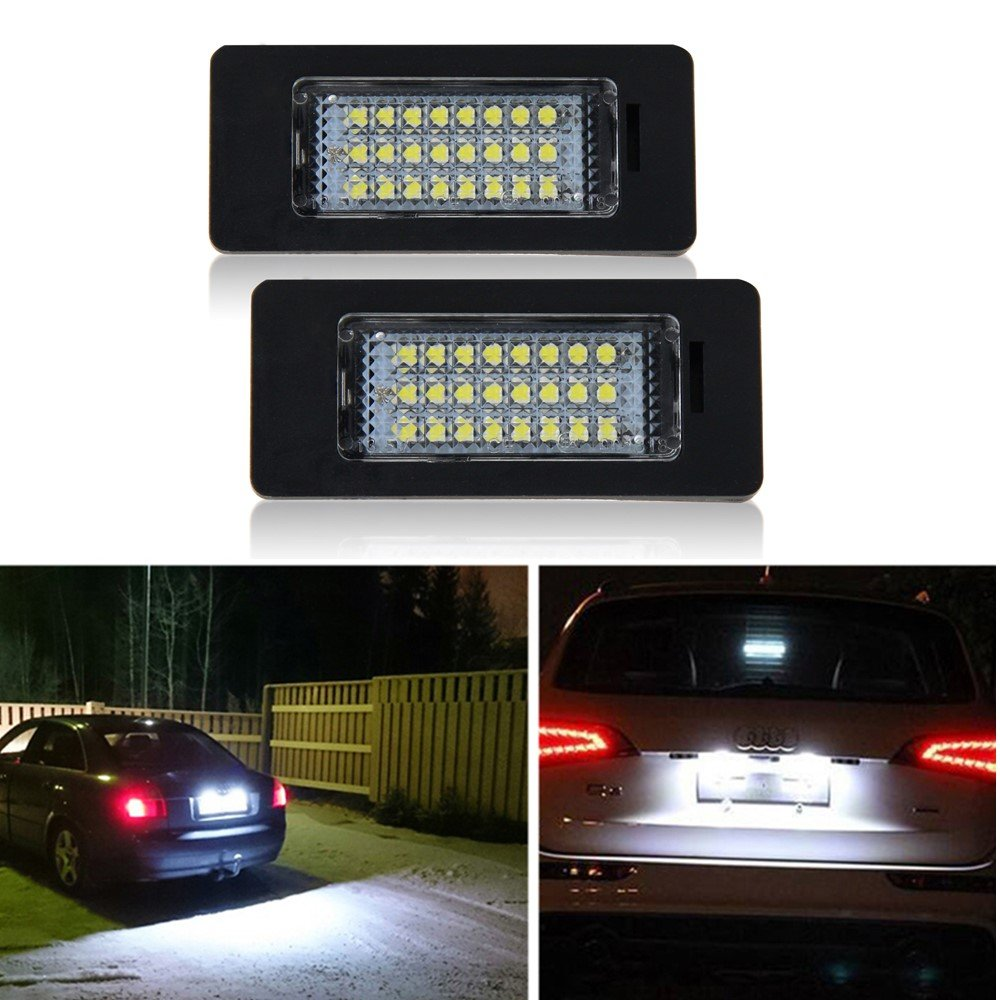 Win Power Led Licence Number Plate light for Audi Benz BMW Ford Hyundai Mazda Nissan VW Toyota Rear Lamps Universal,2Pcs