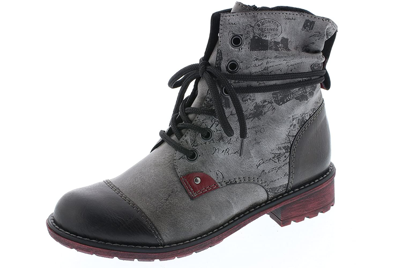 Rieker Kinder Stiefel K3457 45 fumo grau, Farben:grau, Kinder Größen:36