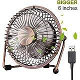 ivoler Mini Ventilateur USB Fan en Aluminium, 360 Degrés Rotation, Portable de 6 Pouces, Silencieux Ventilateur de…