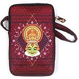 Boriya Women's Cotton Lining Kathakali Printed Mobile Pouch Sling Messenger Bag