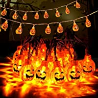 Guirlandes Lumineuse Halloween, Guirlande Lumineuse Citrouille d'halloween, 3M/20 LED Guirlandes Lumineuses Citrouilles…