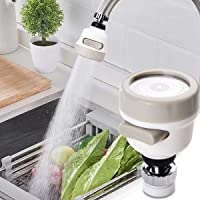 OINOZ Flexible Kitchen Tap Head Movable Sink Faucet 360° Rotatable ABS Sprayer Removable Anti-Splash Adjustable Filter…