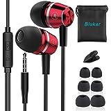 Blukar Auriculares In Ear, Auriculares con Cable y Micrófono Headphone Sonido Estéreo para iPhone,Galaxy, Huawei, XiaoMi, PC,