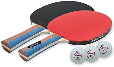 Killerspin Jetset 2 - Table Tennis Set with 2 Ping Pong Paddles and 3 Balls