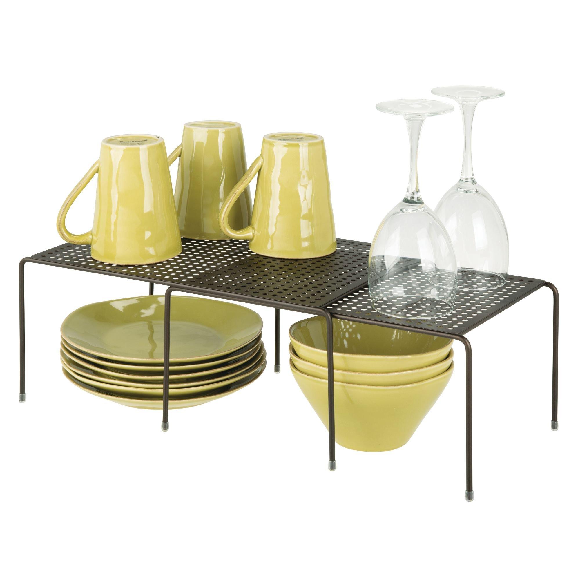 Mdesign porta piatti e porta stoviglie allungabile - Scaffale cucina ...