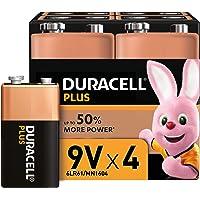 Duracell Plus 9V Block Alkaline Batterien 6LR61, 4er Pack [Amazon exclusive]