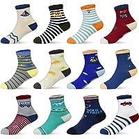 HYCLES - Calze antiscivolo per bambini – 12 paia di calzini antiscivolo per bambini di 1 – 7 anni, per bambini e bambine…