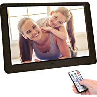Letaocity 10 inch digital picture frame, high resolution (1920 x 1080) remote control ...