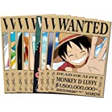 1 set /9pcs (42x29cm) Anime poster Wall Sticker Cartoon Pictures Japanese anime One Piece Wanted poster