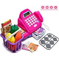 Chocozone Battery Operated Cash Register Toy for Boys and Girls Pretend Play Toy with Calculator, Scanner & ATM Card Toys for 5 Years Old Girls