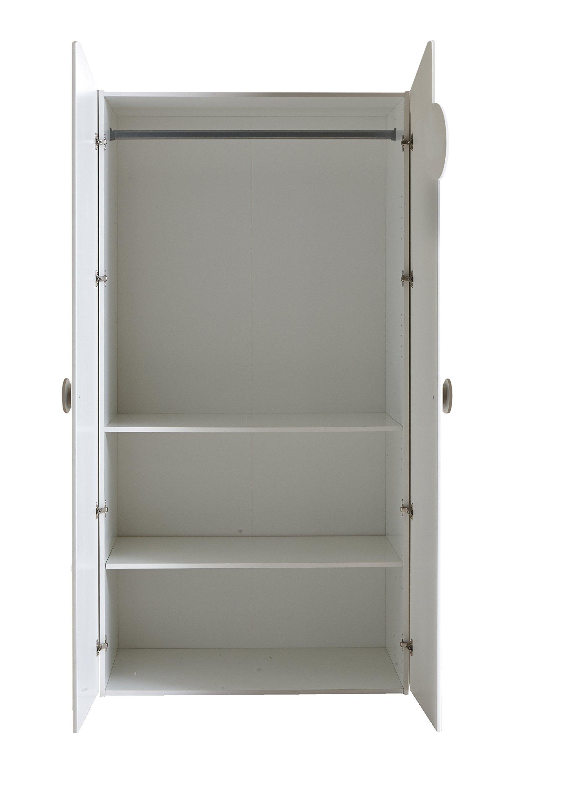 demeyere armoire 2 portes kitty panneau de particules mdf blanc taupe inspid co. Black Bedroom Furniture Sets. Home Design Ideas