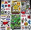 6 Sheets Motocross stickers ca Rockstar bmx bike Scooter Moped army Decal MX Promo Stickers