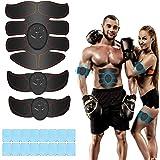 iThrough Elettrostimolatore per Addominali, Elettrostimolatore Muscolare, EMS Stimolatore Muscolare, ABS Trainer/Toner per Ad