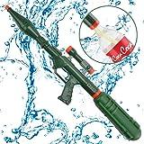 Wishtime Super Bazooka d'arrosage avec Pistolet à Eau Blaster Compatible avec Couvercle à vis à Pompe Pistolet Fusil avec Amovible (Mise à Niveau de Cola Bouteille) pour Adulte, Enfants