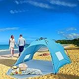 Homfu Tenda Casetta per Bambini e Bambine per Campeggio Esterno Tenda Giocattolo per Bambini con (Beach Blue) …