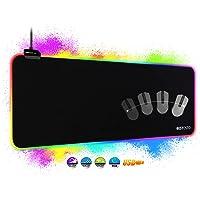 RGB Tapis de Souris Gaming - Grand Tapis de Souris XXL 800x300mm avec 14 Modes D'éclairage, RGB Tapis Souris Gamer avec…