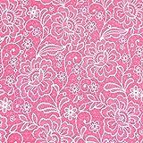 0,5m Jersey Lace Optik Spitze Rosa 5% Elasthan 95%