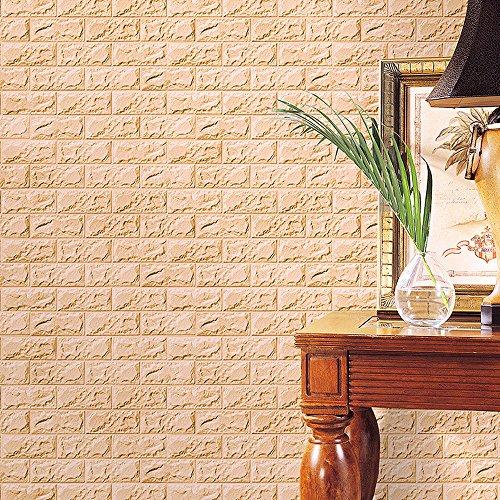 OSYARD Wandaufkleber Wandtattoo,Liesensticker Aufkleber Fliesenbild Selbstklebend 3D Stereo Ziegel Tapete Wandsticker Abziehbilder für Wohnzimmer,Schlafzimmer,Küche,TV Hintergrund (60 x 30 cm)