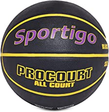 Sportigoo Procourt Imported Basketball - Black/Yellow