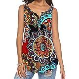 DEMO SHOW Donna Maglie a Manica Lunga Sciolto V Collo Bottone Camicia di Henley Floreale Pieghettata Bluse Tunica Tops T Shir