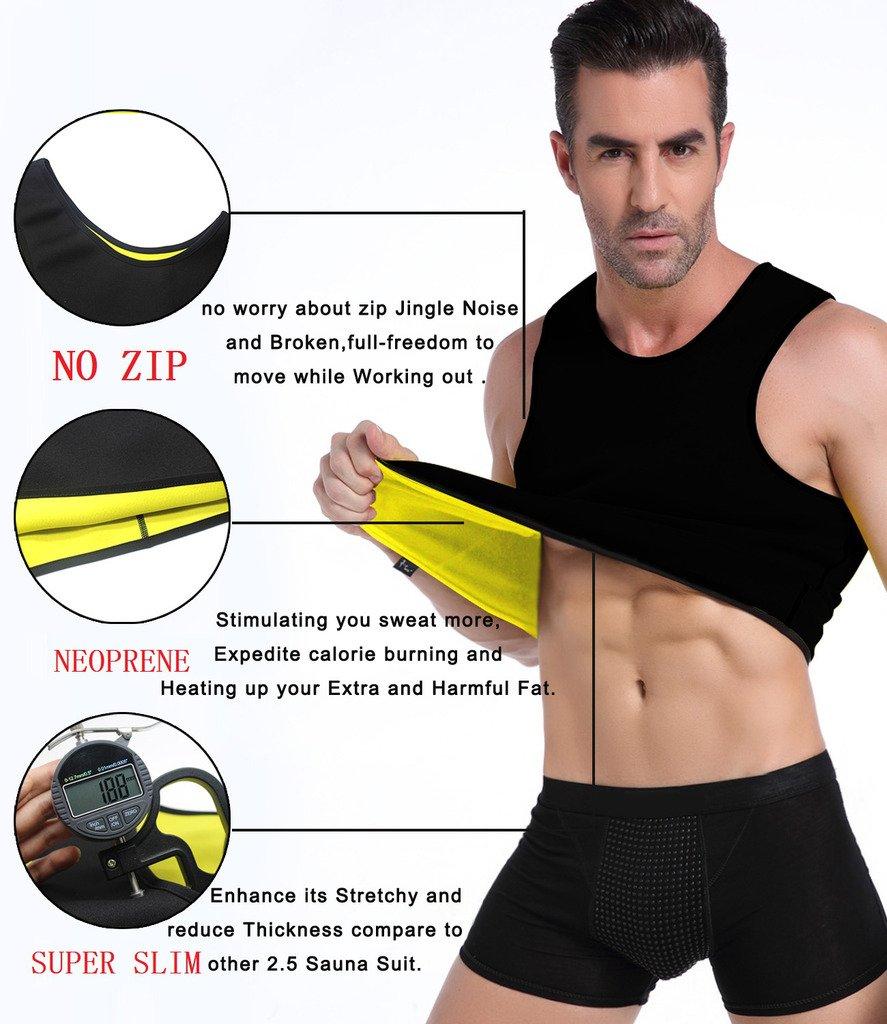 T-Shirt Männer Gym Neopren Weste Sauna Ultra Sweat Body Shaper Abnehmen Cincher