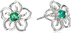 Orecchini a perno in argento Sterling con fiore di cielo