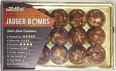 WeDesi Dry Fruit Ladoos - Jagger Bombs (Tray - 15 Servings)