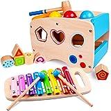 rolimate Giocattolo di Martellamento in Legno + Xilofono 8 Note, Giocattolo educativo in Legno per 1 2 3 + Anni Bambino…