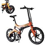 HOMERIC Vikbar elcykel för vuxna, 50 cm elektrisk pendlare cykel med 7,5 AH avtagbart litiumjonbatteri, 36 V 250 W motor och