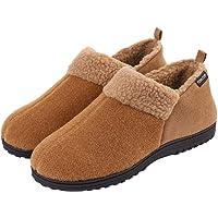 VeraCosy Men's Wool-Like Fleece Clog Slippers, Comfort Memory Foam Anti-Slip House Shoes