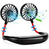 Trade Work India Hand Free Portable USB Rechargeable Hanging Neckband Fan for Home Travelling Outdoor (Multicolour)