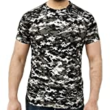 Mens Camouflage Short Sleeve Crew Neck T Shirt