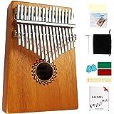Kalimba Piano à pouce 17 clés Thumb Piano Kalimba en bois Portable Instrument de Kalimba Piano à doigt comme cadeau pour débu