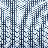 Hamburger Liebe Hipster Square Knit Knit Jacquard-Jersey Bio-Stoff Baumwolle kba GOTs (Hellblau)